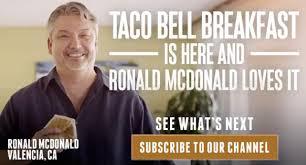 Taco Bell Ronald McDonald